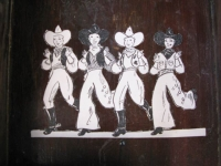Cowgirls Dancing at Slab City Library