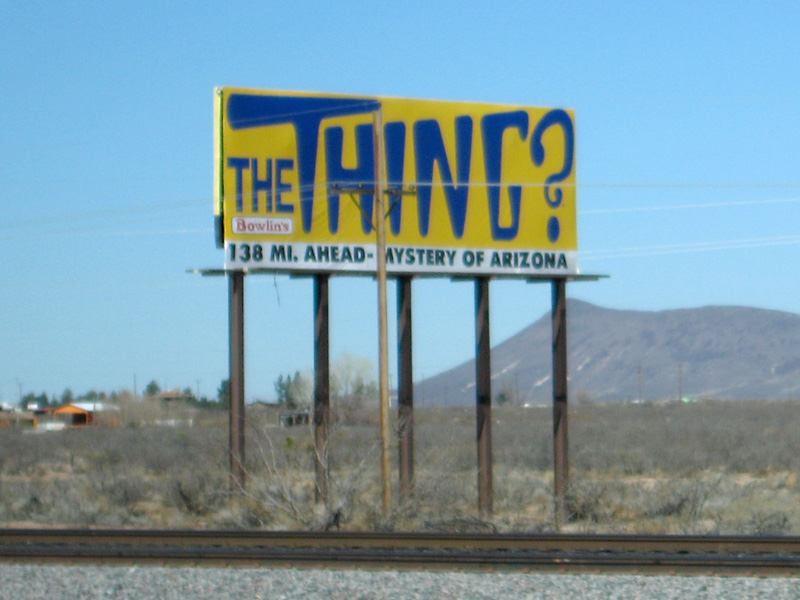 The Thing Interstate 10 Roadside Attraction