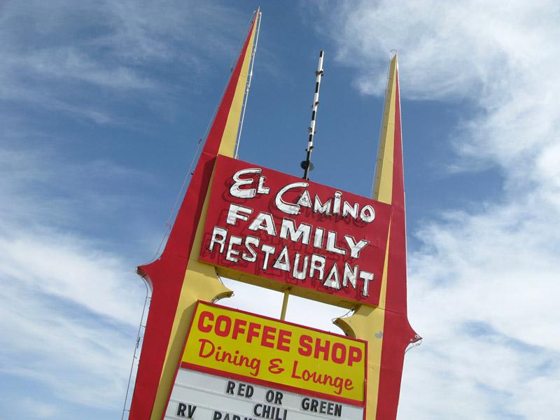 El Camino Restaurant Sign