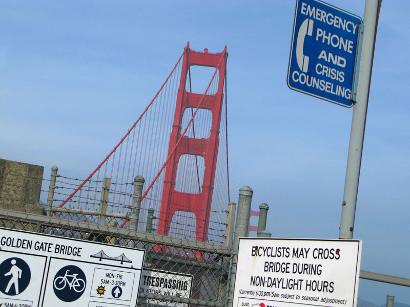 Crisis Counseling on Golden Gate Bridge San Francisco