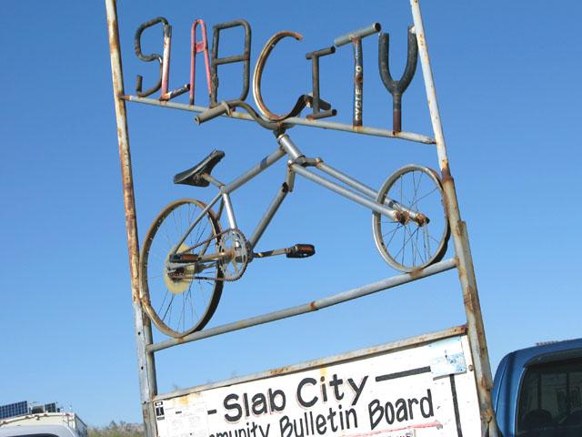 Slab City Community Sign