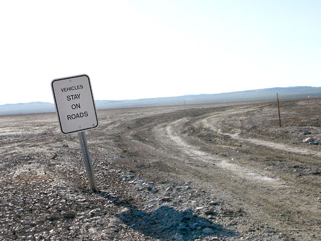Anza Borrego Dry Lakebed Desert Road Sign