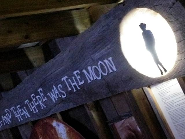 Hondo Crouch Moon Shadow Sign in Luckenbach Texas Bar