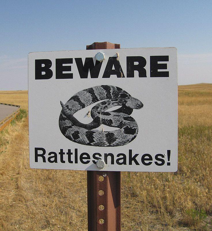 Badlands Warning Sign