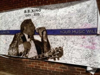 BB King Memorial Banner Beale St. Nashville TN