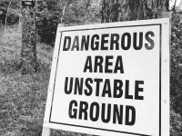 Tumbler Ridge Golf Course Campground Warning Sign