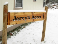 Snow falls on Jerry's Acres