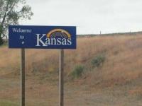 Kansas State Line Border Sign
