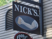 Nick's bar near Lake Sebago, Maine