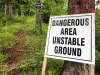 Tumbler Ridge Golf Course Campground Warning Sign
