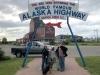 Alaska Highway Mile 0 Sign, Dawson Creek BC