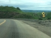 Steep Grade Warning Sign on Highway 97, Brittish Columbia