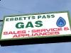 Ebbets Pass gas Sign Arnold California