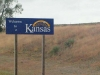 Kansas State Line Border Sign