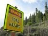 South Fork Road Hazard Sign