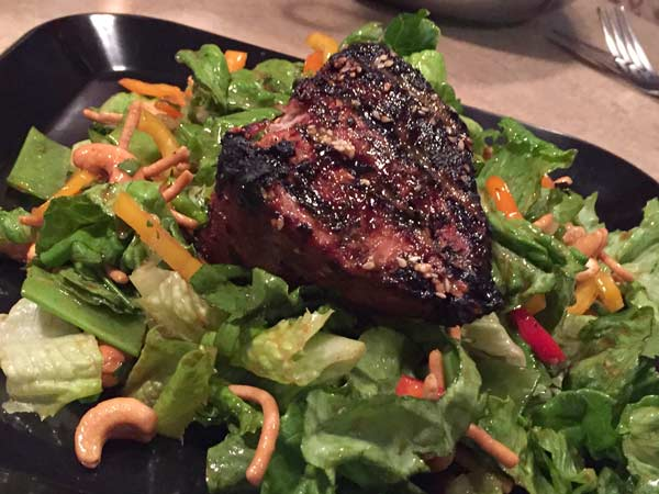 Grilled Tuna on Asian Salad