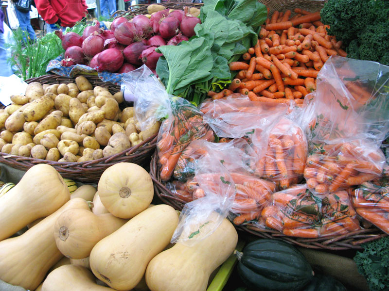 Year round produce at Portland farmers market
