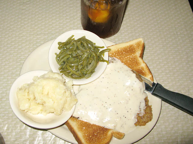 Chicken fried Steak at Maxines on Main Basrtop Texas