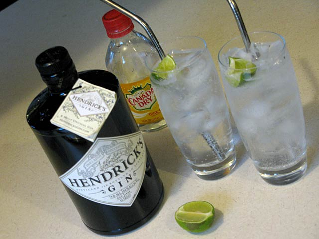 Hendricks Gin and Tonic with Key Lime