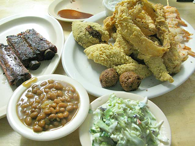 Florida's Southern Fried Food Platter