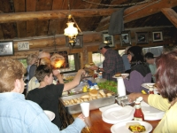 Friday is Burger Night for guests at Vickers Ranch