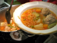 Los Agredanos Homemade Albondigas Soup