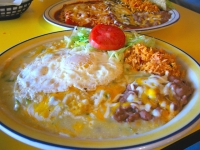 Best Enchiladas Verde y Roja at Pepper Pot in Hatch, New Mexico