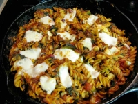 Baked Fusilli with Greens