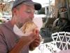 Mmm... Tortilla Burger at El Santuario de Chimayo in New Mexico