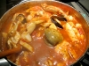 Big pot of homemade Cioppino on Wolf Range