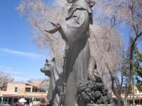 St. Francic di Assissi statue at his church in Santa Fe, NM