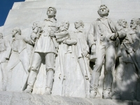 Alamo Memorial Tribute to Davey Crockett and Jim Bowie