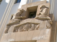 Bisbee Arizona Courthouse Relief Sculpture