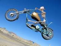 Terlingua Texas Junk Art Dead Biker Sculpture