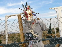 Slab City Pin Cushion Found Art