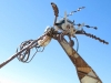 Terlingua Texas Ghost Town Junk Art Bug Sculpture