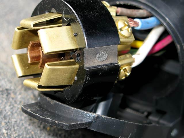 rv tow trailer cord socket fix