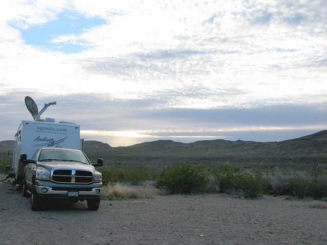 Free RV boondocking Black Gap Texas