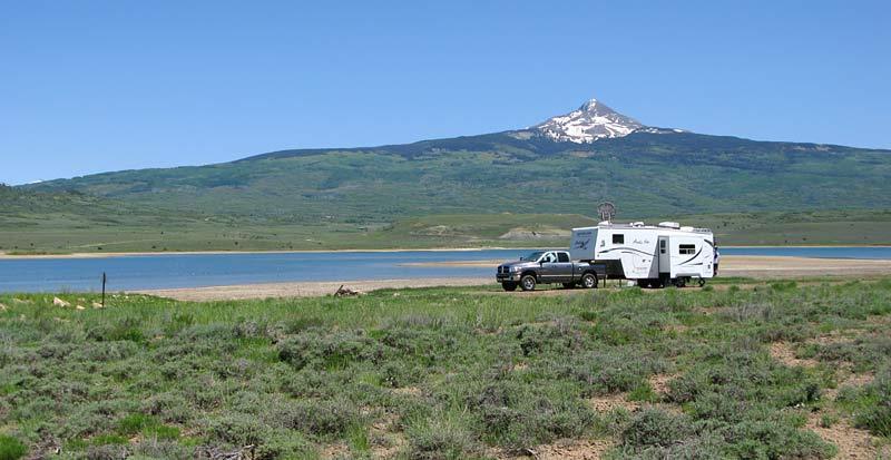 Free RV Boondocking at Miramonte Reservoir Norwood, CO