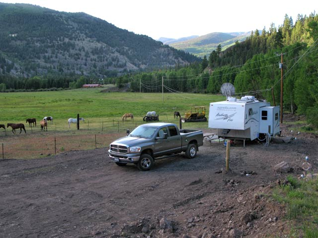 New RV Sites for Workampers at Vickers Ranch