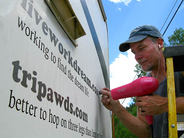 How To Remove RV Vinyl Lettering