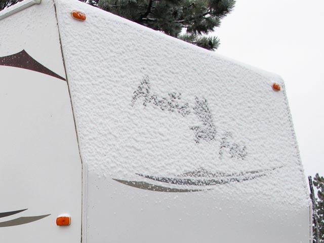 Arctic Fox 275B in Snow