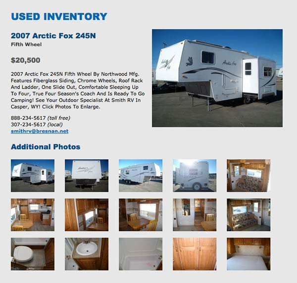 Our Used 2007 Arctic Fox 245N For Sale