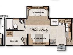 Northwood Arctic Fox 275B Floorplan