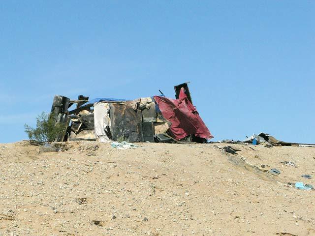 Slab City Resident Impromptu Shade Shelter