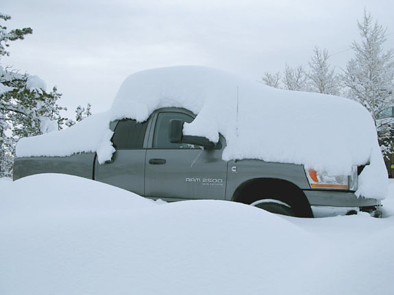 Dodge Ram snow cover