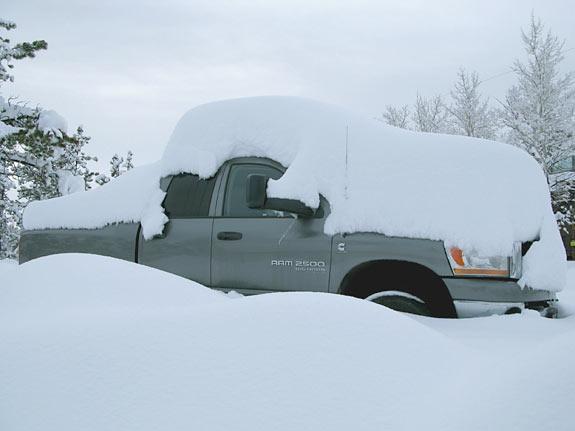 Dodge Ram snow cover