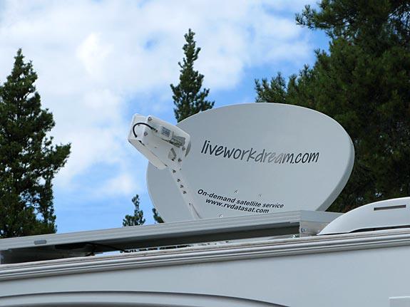 full-time RVing, mobile RV satellite Internet