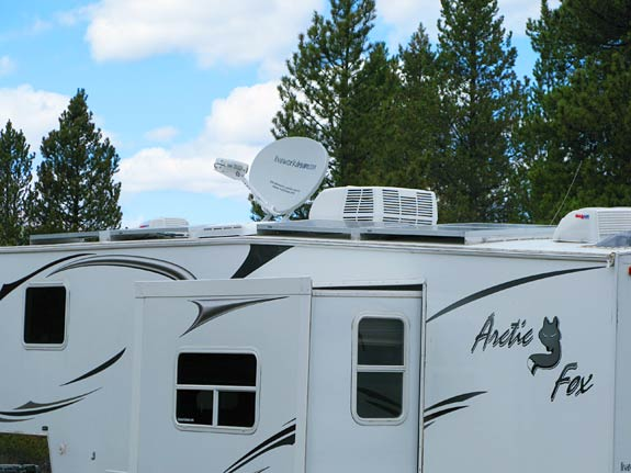 RVDataSat 840 RV Satellite Internet Free Boondocking Camp Hale, CO