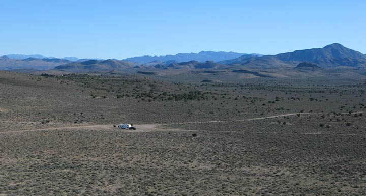 Free Boondocking at Basin & Range BLM Monument